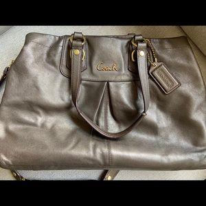 Large Authentic COACH bag purse gray